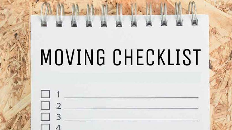 Interstate Moving Checklist