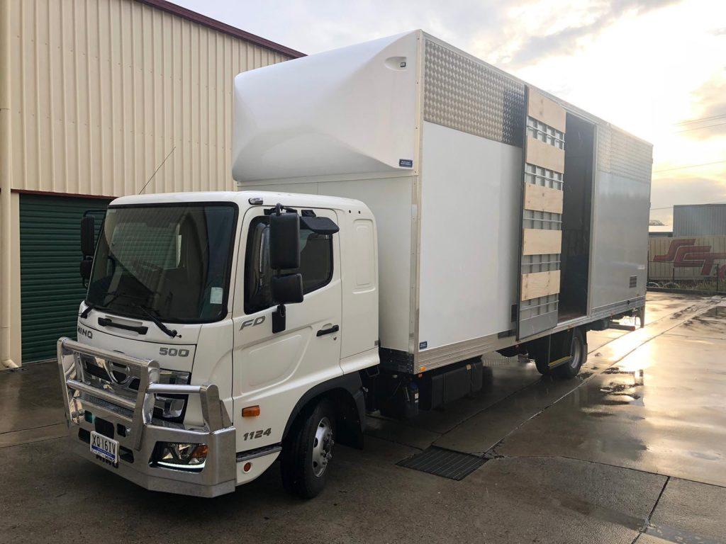 Interstate removalist truck