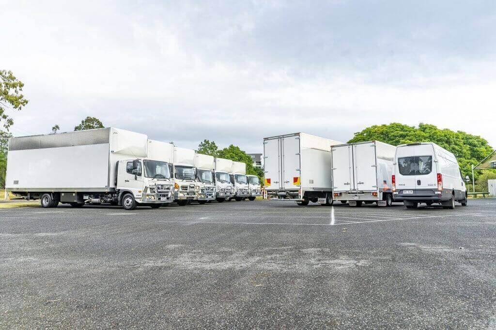 Modern removalist trucks